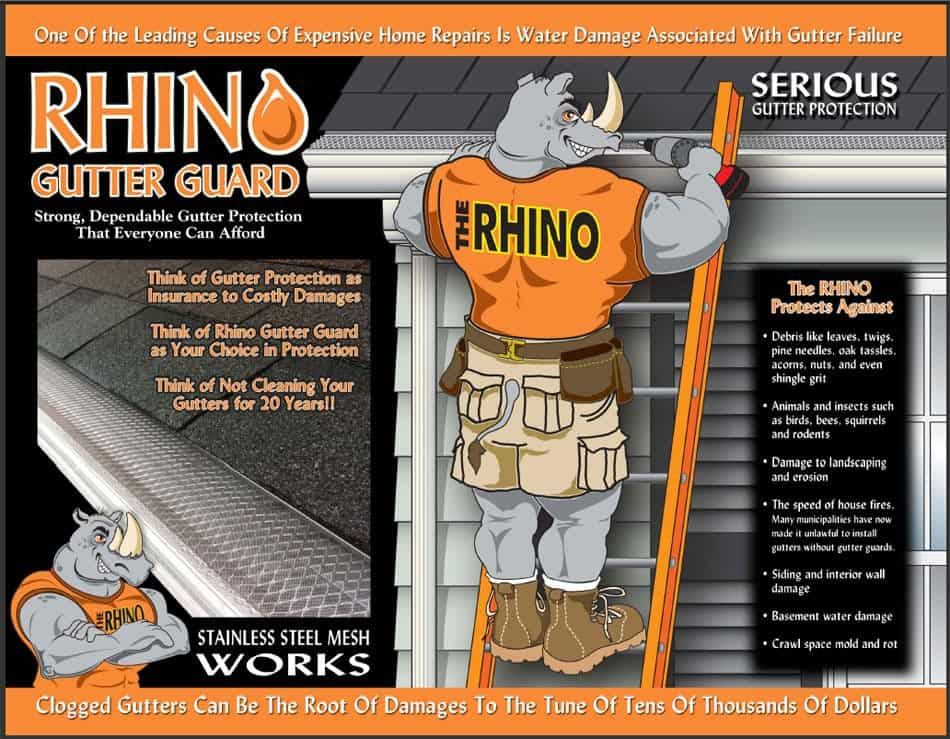 rhino gutter guard information